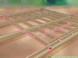 image titled build simple square decking step 2 building a simple deck i62