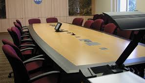 large office tables. conference table, boat-shaped, african limba laminate large office tables b