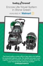 Baby Trend Encore Lite Travel System in Stone Green - Walmart ...