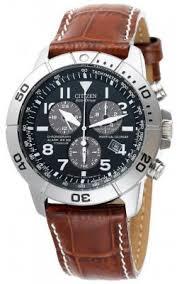 titanium watches citizen mens eco drive perpetual calendar chrono titanium watch brown leather strap blue