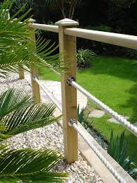 garden handrail with rope google search