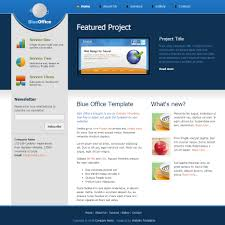 blue office html css templates blue office html template