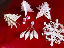 Paper Christmas Tree Ornaments Use Original Christmas Decorations This Year