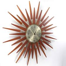 newgate george nelsonstyle sunburst wall clock  modernstyle