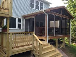screened in deck. Dayton Screened Porch And Deck Builder In