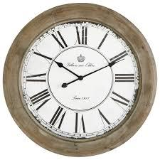 Maison Du Monde Ambiance Scandinave Horloge En Bois Blanchi D 74