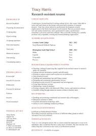 Research Resume Interesting Student Entry Level Research Assistant Resume Template