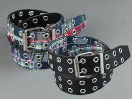 c red brand reversible black leather to madras grommet belt