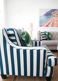 Striped Living Room Chairs Custom Living Room