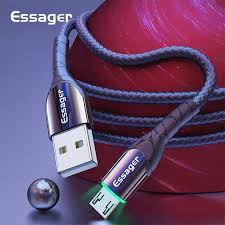 <b>Essager</b> 0.5M/1M/2M/<b>3M LED</b> Micro USB Cable Fast Charging For ...