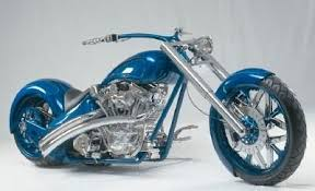 photo of royal blue custom chopper bike images photos pictures