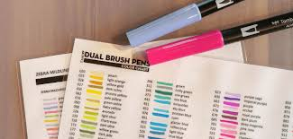 Color Chart For Tombow Dual Brush Pens 107 Colors Incl