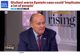Image result for giuliani epstein