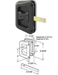 sliding screen door latch. Sliding Patio Screen Door Latch And Pull - Black Plastic