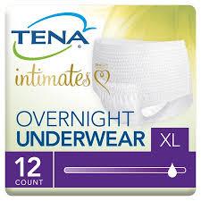 Tena Brief Sizing Chart Tena Incontinence Underwear Overnight Xlarge 12 Ct