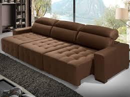 sofá retrátil e reclinável chaise 5 lugares acapulco lima estofados sofás 4 ou mais lugares magazine luiza
