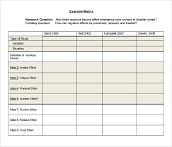 Literature Review Matrix Sample Sample Literature Review Template 5 Documents In Pdf Word