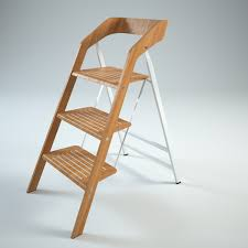 vintage usit stepladder chair 3 step version 3d model max 5