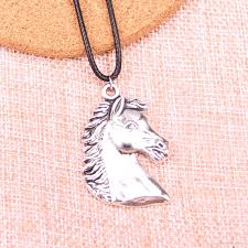 horse head pendant leather chain necklace vintage jewelry drop amethyst pendant necklace white gold pendant necklace from qimao 0 66 dhgate
