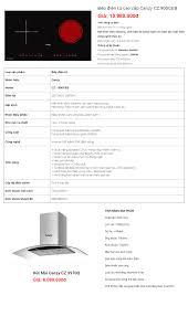 Combo 1: Bếp Điện Từ Canzy CZ 900GEB + Hút Mùi Canzy CZ 3970Q – Nhà Bếp Eu