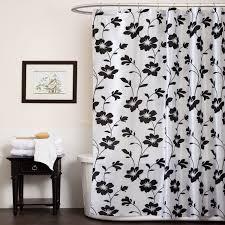 black white shower curtain in curtain