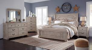 Ashley Furniture Charmyn Panel Bedroom Set in White Wash | New Home ...