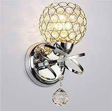 Indoor wall sconce lighting Commercial Wall Image Unavailable Amazoncom Elitlife Modern Crystal Wall Lights 110220v Max 40w Wall Sconce