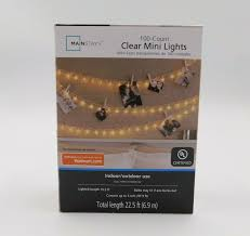 100 Count Clear Mini Lights Mainstays Holiday Living Find Offers Online And Compare Prices At