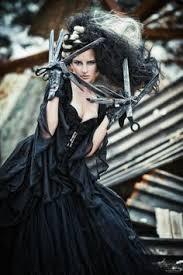scissorhands by joanie d via behance fashion editorial black dark