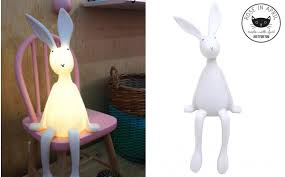 Bunny Table Lamp For Nursery Or Kids Room By Rose In April