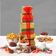 be able to snack on this tower for days or have enough to share with the whole family for the holiday although you ll leave that decision up to him