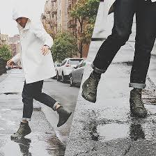 converse rain boots. dathias hoang - stutterheim rain coat, converse boots dancing in the @
