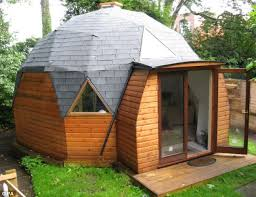 the unusual dome experiment shed is another entry into the coveted competition a new study by cuprinol has found the average briton spends a year of