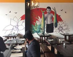 la viga restaurant wall murals  on mural wall artist with hand painted wall murals morgan mural studios