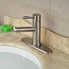 2019 retail basin countertop sink faucet brushed nickel deck mount hot cold water taps with 8 inches for bathroom from gonglangno1 92 47 dhgate com