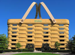 The Longaberger Basket Company's seven-story picnic basket-shaped  headquarters building, Newark,