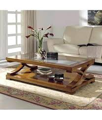 glass top center table india dream furniture rectangle shape brown at best s in glass top center table india