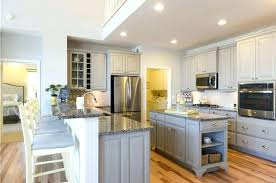 beautiful kitchen peninsula with sink and seating
