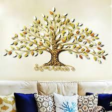 Metal rich tree handpainted iron wall decor life tree wall art  sculpture|Wind Chimes & Hanging Decorations| - AliExpress