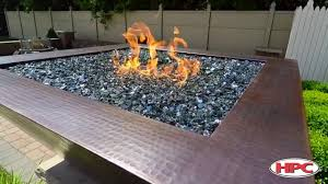 outdoor fire pit media reflective black glass
