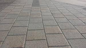 concrete patio pavers vs solid