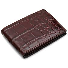 men s bifold crocodile print italian leather wallet with id flap 8 png