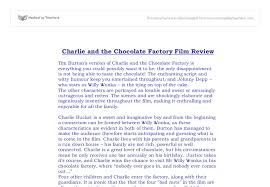 charlie and the chocolate factory film review gcse english  document image preview
