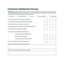 customer service satisfaction survey examples customer satisfaction survey template word inspirational customer