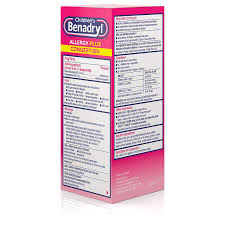 Benadryl Dosage Chart For 5 Year Old Childrens Benadryl Allergy Plus Congestion Liquid Made With Diphenhydramine Hcl Antihistamine Phenylephrine Hcl Nasal Decongestant Alcohol