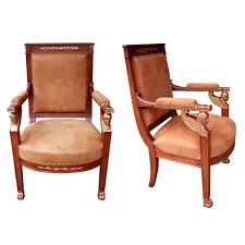 furniture motifs. A Good Pair Of French Empire Armchairs With Sphinx-Head Motifs For Sale Furniture