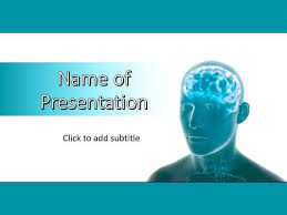 Medical Power Point Backgrounds Human Brain Power Point Template Free Download