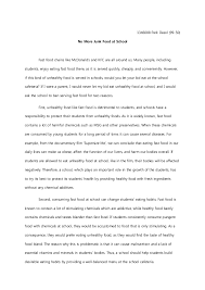 argumentative essay final draft 1346008 park dasol 99 50 no more junk food at school fast food