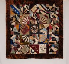 1493 best Quilts: Crazy Quilts images on Pinterest | Embroidery ... & Silk Victorian Crazy Quilt with Dresden Plate Center Medallion Dated  November 1886 Adamdwight.com