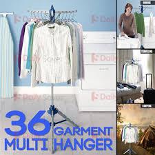Portable Folding Coat Rack Portable Folding Multi Clothes Airer Stand Cloth Dryer Garment 36